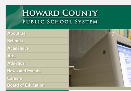 Howard County Public School System identity view 1