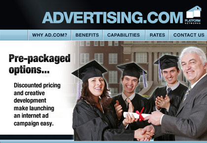 Advertising.com Education Category Microsite view 1