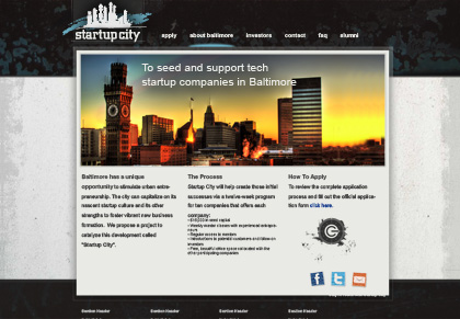 Startup City website view 1